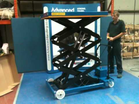 Electric Scissor Lift Table Triple 12 Volt Youtube