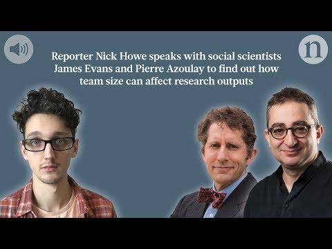 Listen: Small research teams are better than big ones at disrupting science