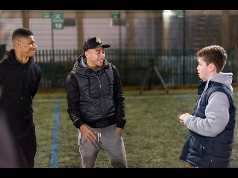 Marcus Rashford and Jesse Lingard surprise...
