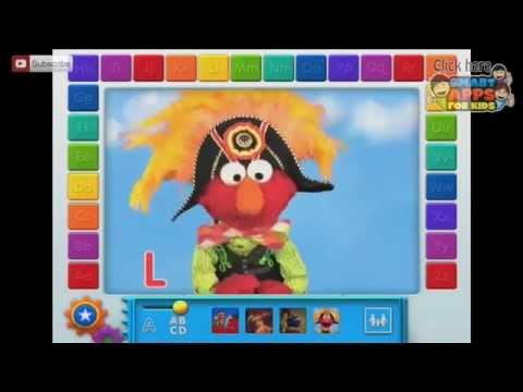 Elmo Loves ABCs Part 1 - Sesame Street - IPad App Demo For Kids - Ellie