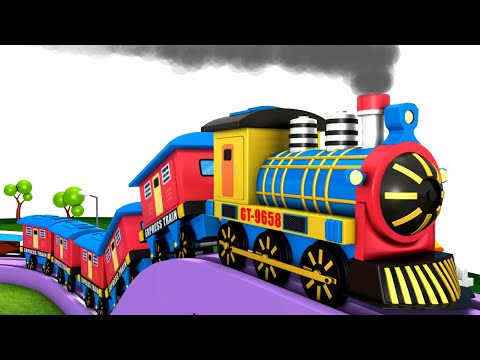 Lets Built A lego House: Toy Factory Cartoon Train | Choo Choo Cartoon Train Videos for Children