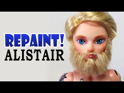 Repaint! Alistair Wonderland Custom Male Doll with Beard OOAK