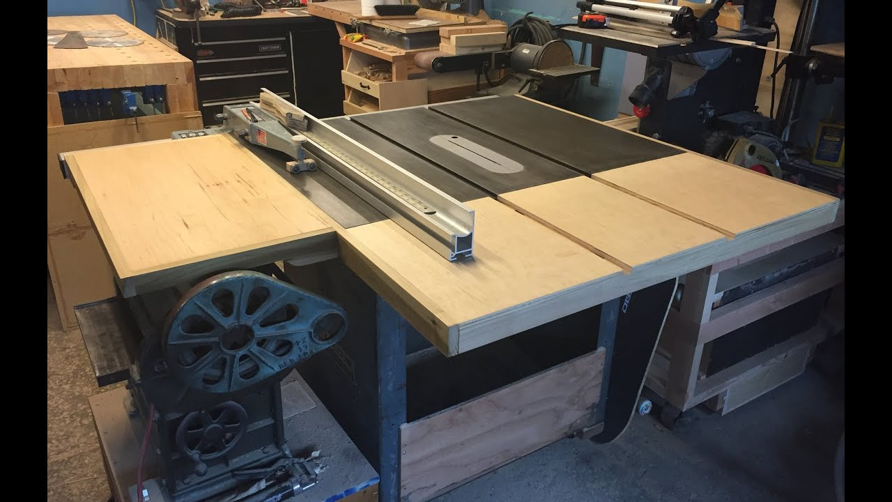 Tablesaw Extension And Side Table Doovi