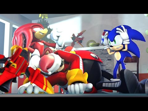 Sonic Christmas.Sfm Christmas With Knuckles Sonic Animation Sfm Animation Christmas Special