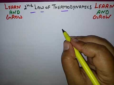 2ND LAW OF THERMODYNAMICS(हिन्दी ) ! LEARN AND GROW