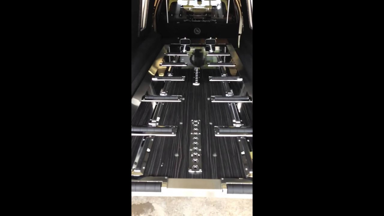 Armbruster-Stageway - Electronic Extend Table Option - Custom Hearse For  Sale