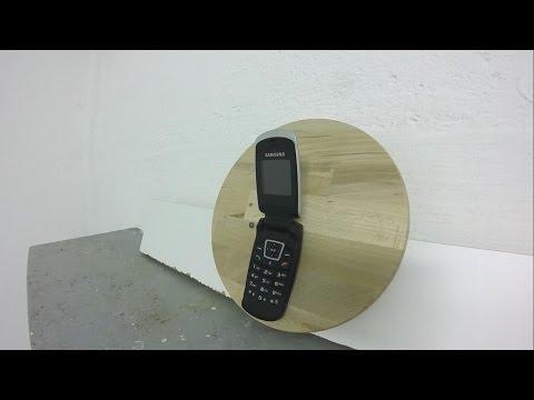 Samsung SGH-C270 vs. Air Gun - Cellphone Destruction