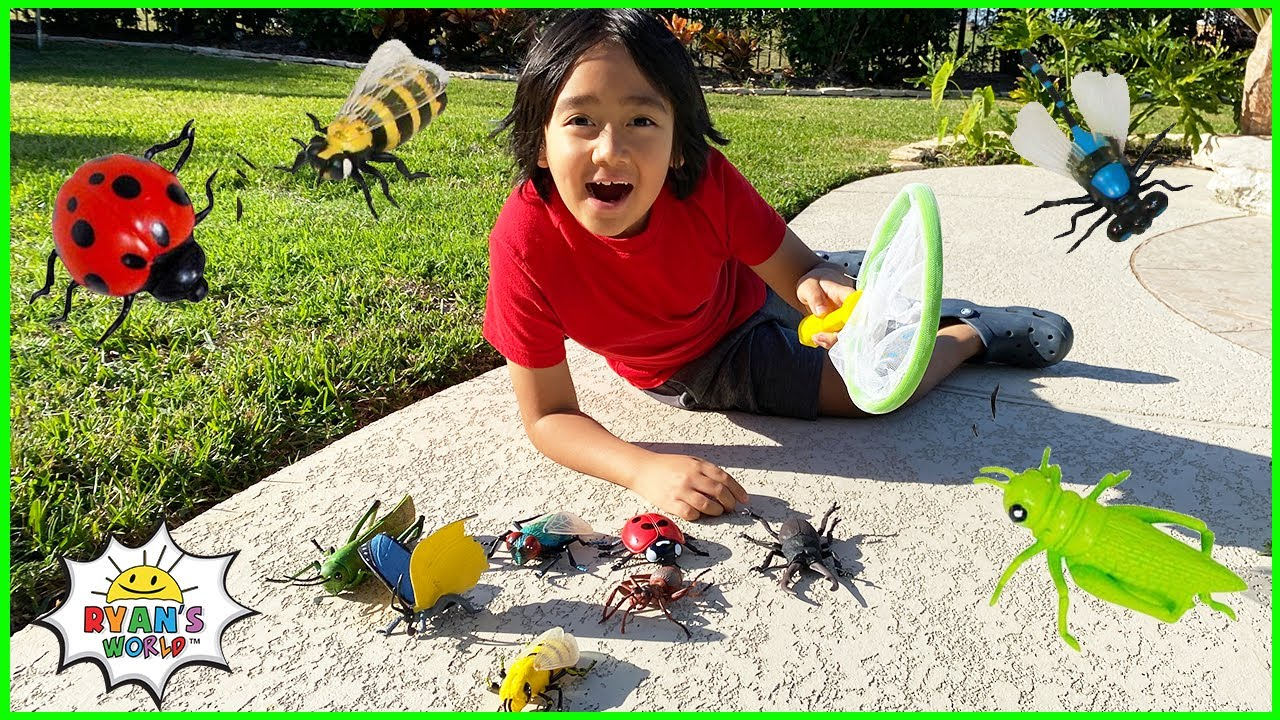 Download Kids Bug Hunt at home and learn about Bugs facts with Ryan!