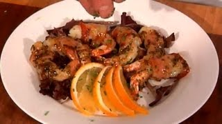 Grilled, Bacon-wrapped Shrimp With Bourbon Citrus Glaze : Coastal Flavors