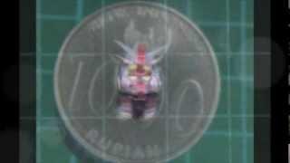 Micro Papercraft SD Gundam RX-78-1