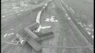CCTV Captures Train Smashing Into Another.