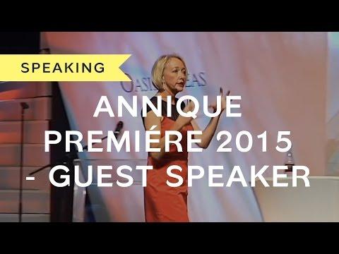 Annique Premiére 2015   Guest Speaker  Ann Wilson