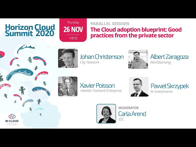 Parallel Session: The Cloud adoption blueprint: Good practices from the private sector