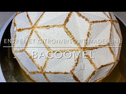 entremet-citron-/-lemon-curd-/-biscuit-madeleine-/-moule-gemma-diamant-silikomart