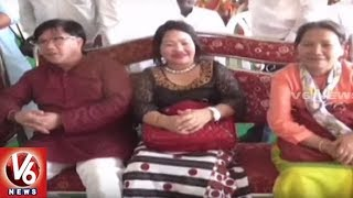 Arunachal Pradesh CM Pema Khandu & Kiren Rijiju Attends Officer's Marriage In Choutuppal | V6 News