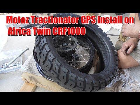 Motoz Tractionator GPS On Africa Twin CRF1000