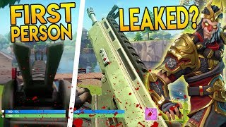 FIRST PERSON LEAKED GAME MODE in FORTNITE BATTLE ROYALE!? (NEWS)