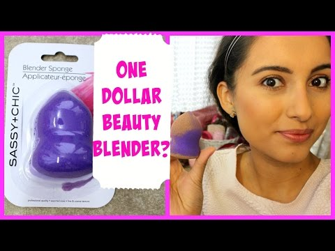 BEAUTY BLENDER DOLLAR TREE MUST HAVE OR NOT? First Impressions & Demo!