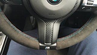 BMW F30 Alcantara Re-trimmed Steering Wheel (M Performance) thumbnail
