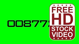 FREE HD video backgrounds – animated counter numbers counting from zero to one million on gree