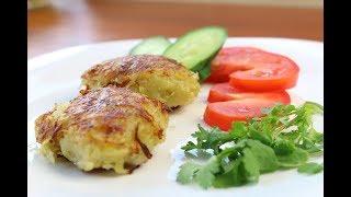Картофельные Зразы с фаршем на сковороде за 5 минут/Potato patties with a forcemeat stuffing