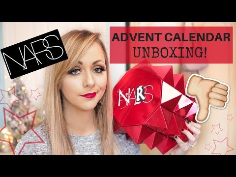 NARS UNCENSORED BEAUTY ADVENT CALENDAR 2018 UNBOXING  LADY WRITES