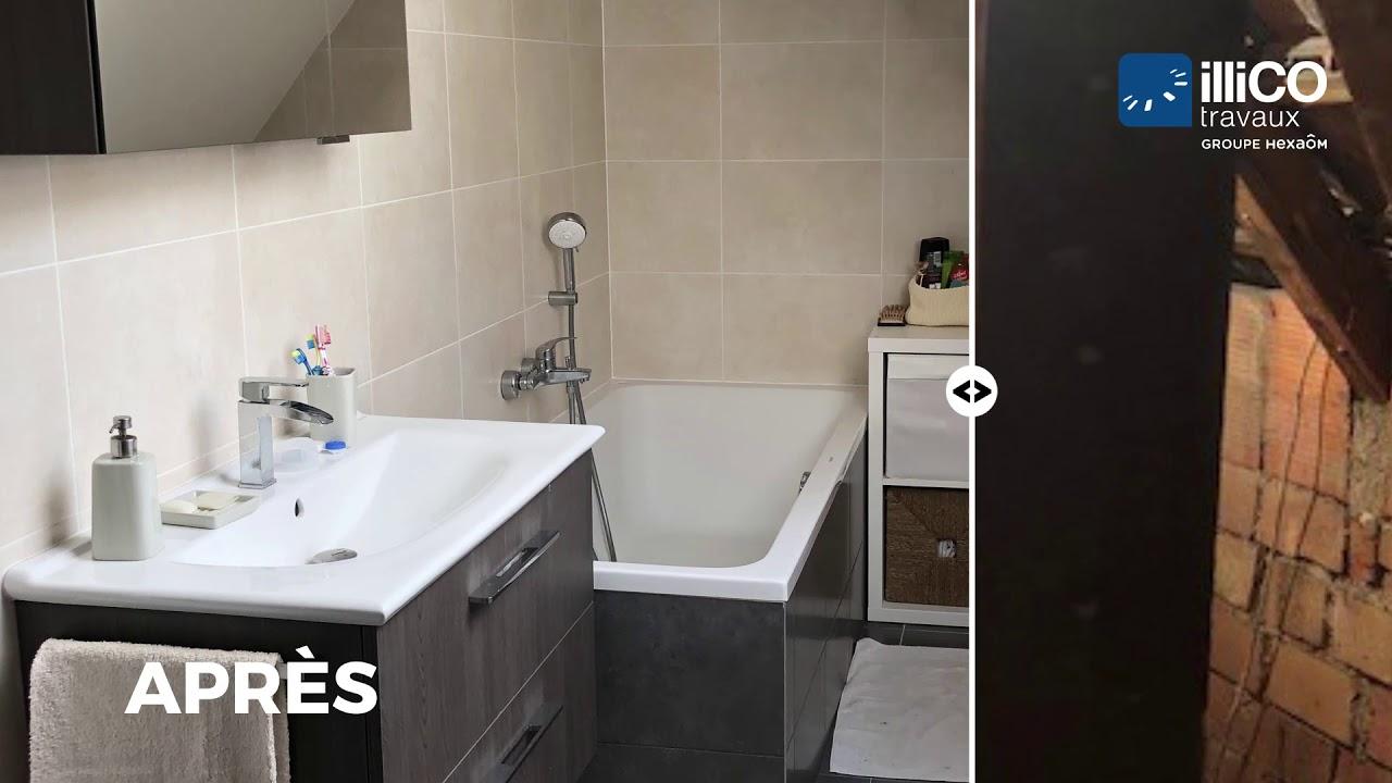 Installer Salle De Bains Combles aménagement d'une salle de bain dans des combles perdus à dinsheim sur  bruche par illico travaux