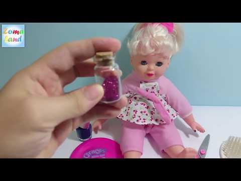 العاب اطفال   العاب بنات   لعبة قص شعر العروسة  Baby games   Girls toys   Baby doll cut hair