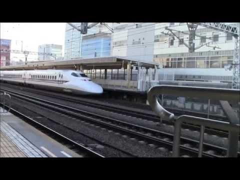 Bullet Trains Passing Through Shizuoka, Japan 17/Jan/2015 El Tren Bala Pasando Por Shizuoka, Japón