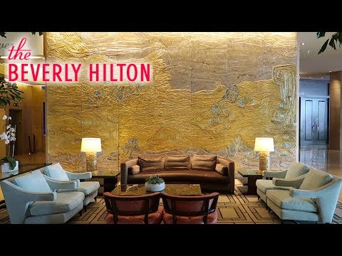 Beverly Hilton LUXURY HOTEL Review + Tour