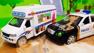 Мультики про машинки. Полицейская погоня в мультике – Фургон с мороженым. Мультфильмы для детей