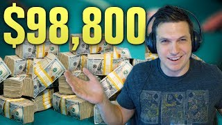 I'M GOING DEEP! Final Two Tables, $98,800 Prize Pool (Poker Tournament)