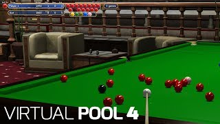 Virtual Pool 4 - Playing Snooker vs skilled level