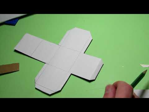 Как сделать кубик из картона своими руками схема распечатать