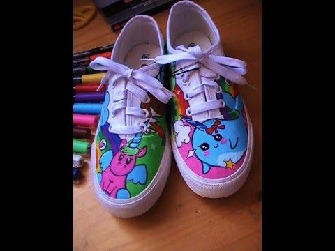 Tutoriel customiser des chaussures avec posca kawaii youtube - Jeux de decoration de chaussure ...