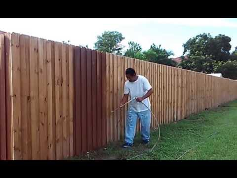 Idea How To Paint A Wood Fence