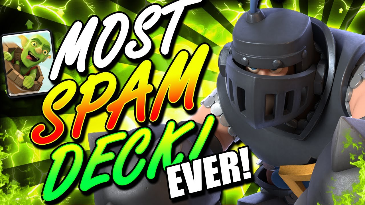 MOST ANNOYING DECK EVER!! NEW META MEGA KNIGHT SPAM DECK!! - Clash Royale Mega Knight Deck