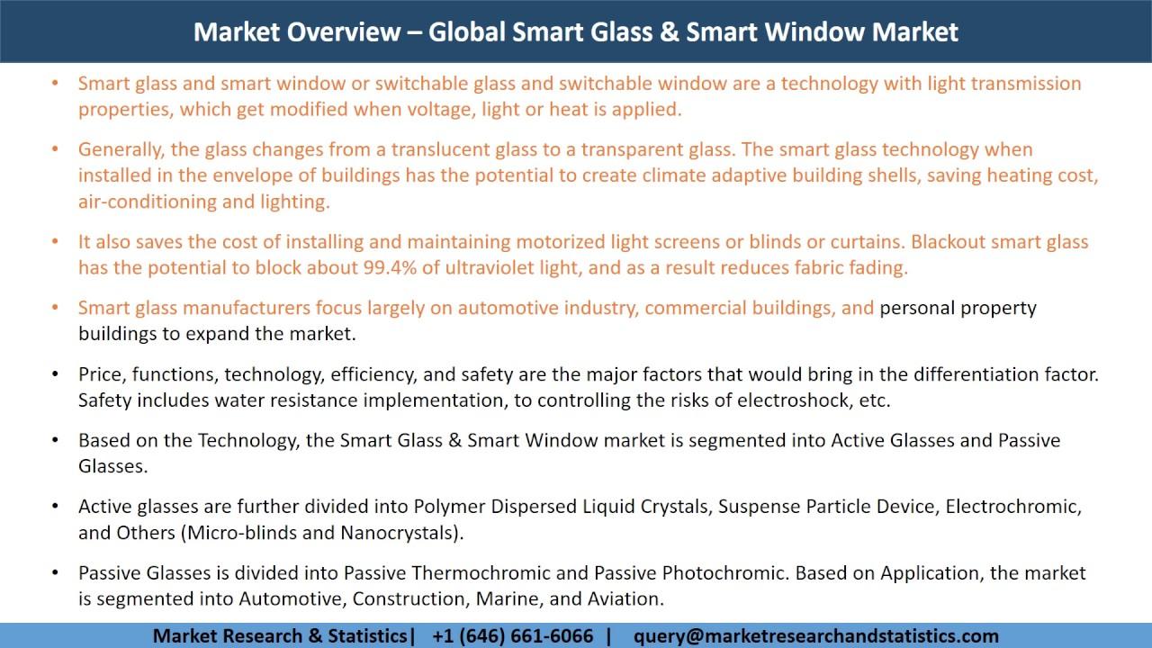 global smart glass market Global smart glass market by technology, application & geography - forecast to 2023 - researchandmarketscom.