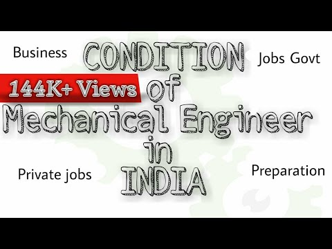 Condition of Mechanical Engineer in India