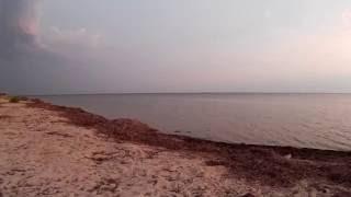 Пляж вечером  Хорлы  Херсонская область  Украина