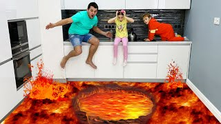 تنقذ صوفيا شقيقها من الحمم البركانية