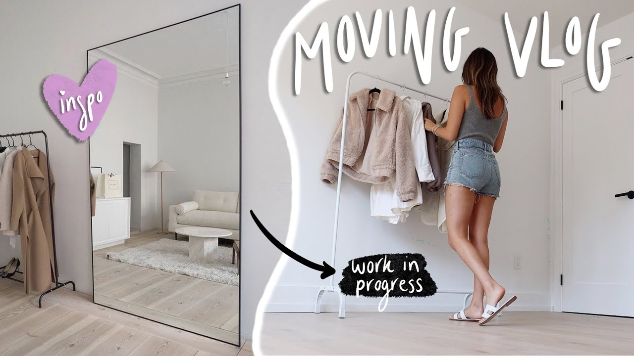 MOVING VLOGS day 6! Organizing more clothes & setting up my filming room!!