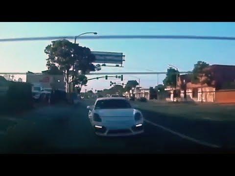 Tesla vs Porsche from teszila video Blackvue