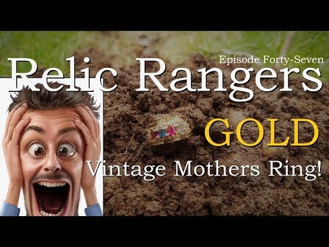OMG! HUGE GOLD VINTAGE MOTHER'S RING FOUND METAL DETECTING - Relic Rangers