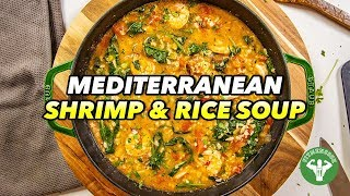 One Pot Mediterranean Shrimp And Rice Soup