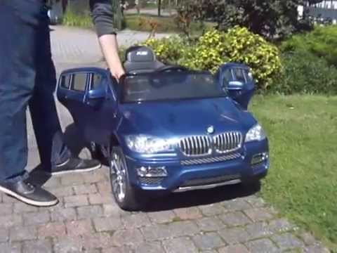 elektrische kinderauto bmw x6 blauw metallic youtube. Black Bedroom Furniture Sets. Home Design Ideas