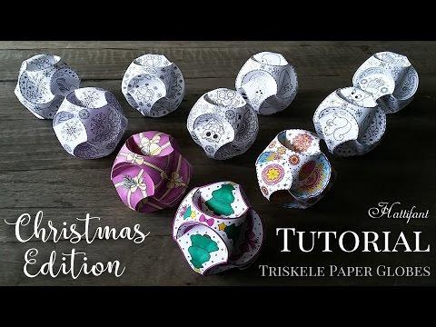 Hattifant - CHRISTMAS Triskele Paper Globe: TUTORIAL
