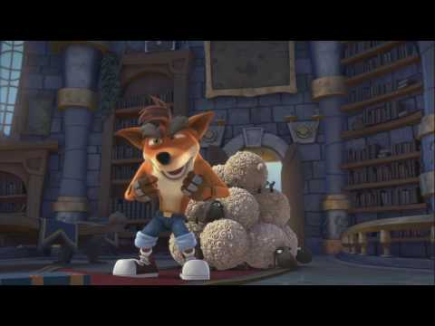 Crash Bandicoot in the cartoon (Skylanders Academy) Full HD