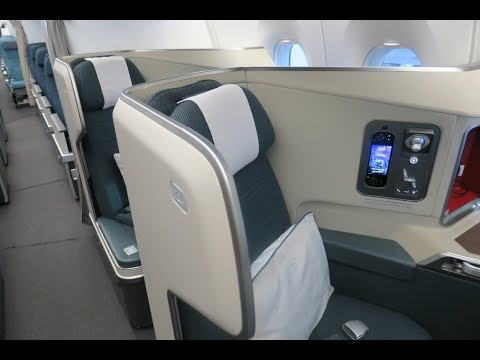 Cathay Pacific A350-900 business class Barcelona to Hong Kong CX318 (flight review #16)