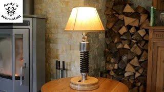 Industrial Design - Stoßdämpferlampe - Designer Lampe - diy